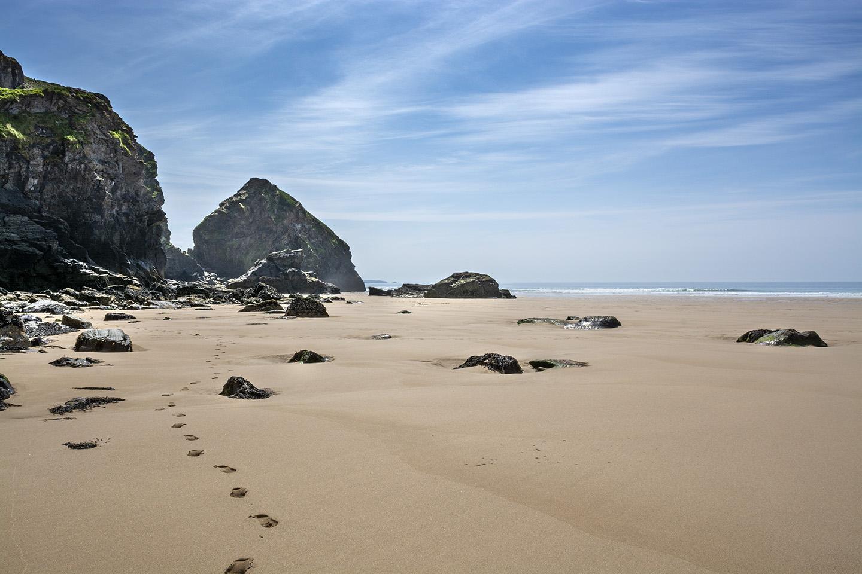 Footprints in Paradise - Bedruthan Steps