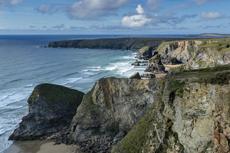 Sun-kissed Cliffs - Bedruthan Steps