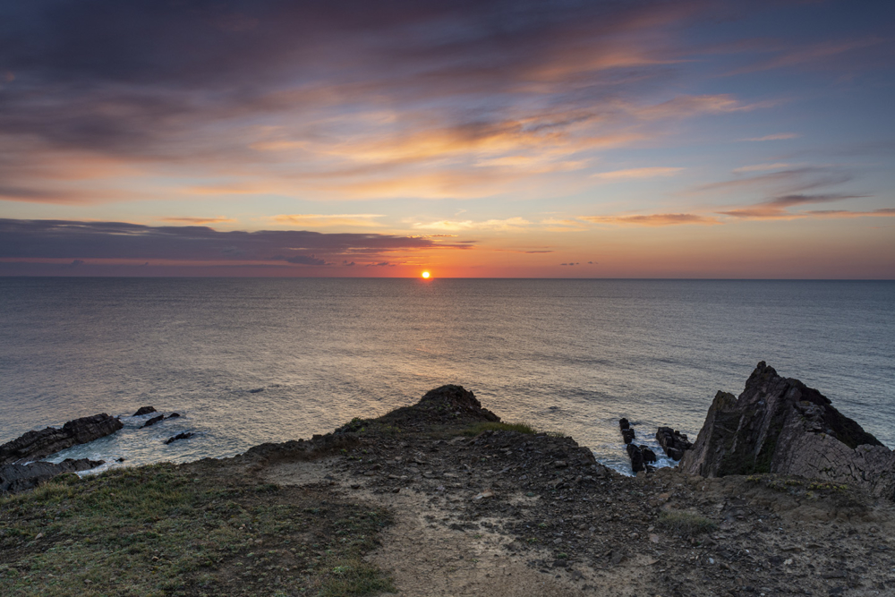 Clifftop Sunset - Bude Coastline