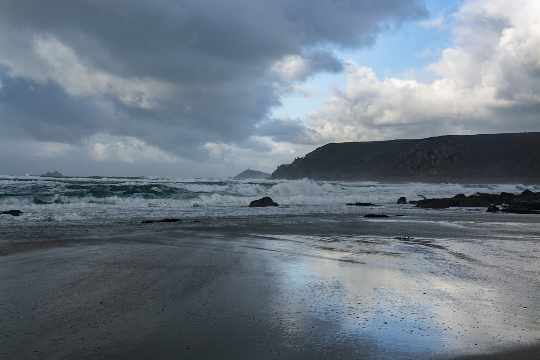 Stormy Sennen Cove