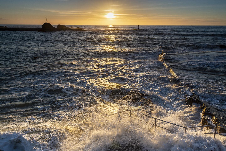 Sunset Splash - Summerleaze Beach, Bude