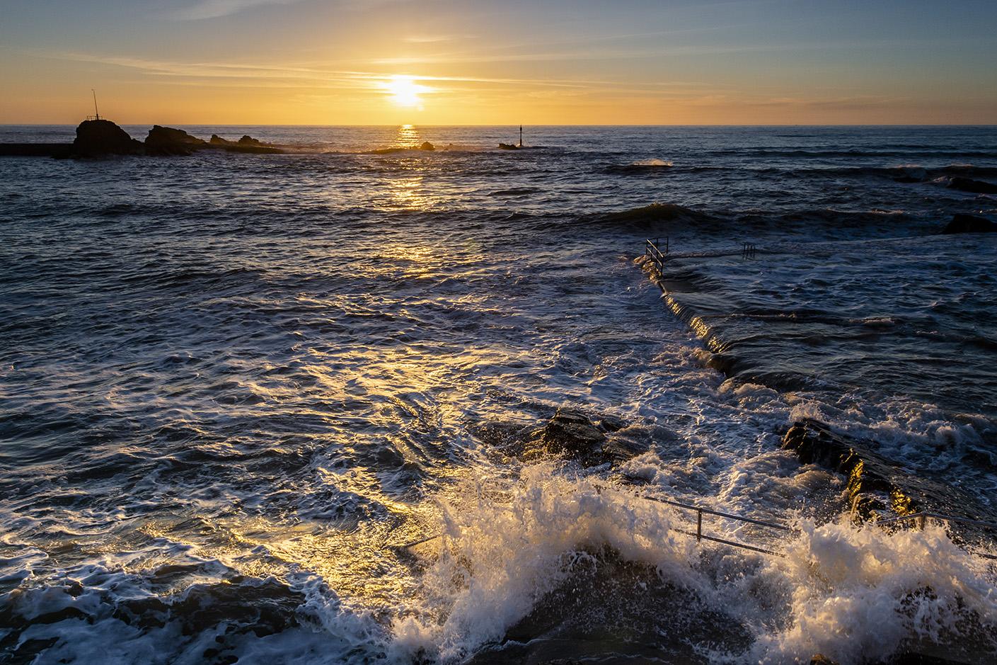 Summer Sunset in Februrary - Summerleaze Beach, Bude