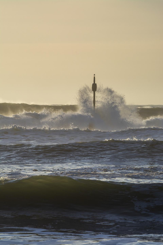 Waves from Barrel Rock - Summerleaze Beach, Bude