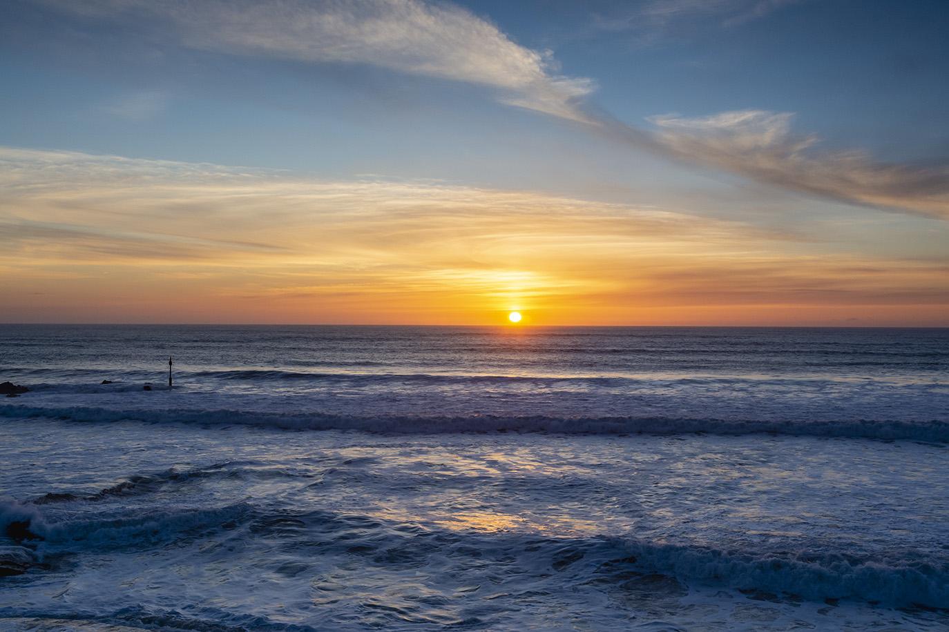 Before the Sun Kisses the Ocean - Summerleaze Beach, Bude